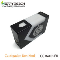 aluminum dual battery box - Newest Castigador Box Mod Delrin Parallel Fit Dual battery Vaporizer Mechanical Mod for RDA Atomizer Aluminum RBA e cigs