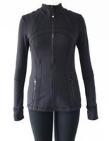 athletic outerwear - New Quality Fashion Women Running Jackets Yogaes Long Sleeves Outerwear Stretchy Clothes Athletic