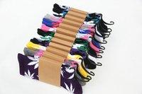 Wholesale 16 Multi color Hot Sale Unisex Maple Leaf leaf socks fashion socks plantlife crew weed socks skateboard sports stockings