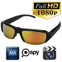 Cheap HD 1080P Glasses Spy Hidden Sports Camera DVR Video Recorder Eyewear DV Cam Mini Sunglasses Camera Portable Camcorder Security Camera