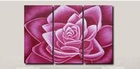 art painting techniques - hand oil painting techniques discount panel canvas art decorative pink flower canvas house modern decor