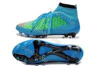 Wholesale AAA Quality Soccer Shoes C Magista Obra FG Metallic With ACC Red Ankle Boots Mens Football Boots High Cut Athletics Sneakers Size