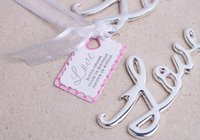 Wholesale New Script LOVE Word Love Chrome Steel Bottle Opener Openers Wedding Bridal Shower Favor Silver Gold Color