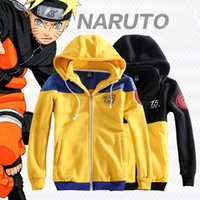 Wholesale Naruto Commemorate years costume hoodies jacket for adult blue and black Removable hat daily couple cosplay