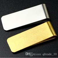 Wholesale 1000pcs CCA2714 New Arrival Portable Stainless Steel Brass Money Clipper Slim Money Wallet Clip Clamp Card Holder Credit Name Card Holder