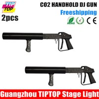 Wholesale By fedex Cheap Price Handhold Co2 Gun DJ Light Meter Hose Hi Quality Gun Pistol CO2 Stage Light Without Power Stage CO2 dj cannon