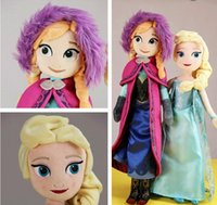 Wholesale Hot Sale In Stock Movie dolls cm inch Frozen Elsa Anna toy doll action figures plush toy Frozen dolls Cheap Christmas Gift BO6921