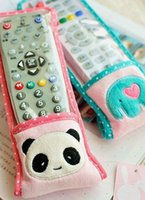 appliance covers - Cute cartoon panda plush elephant elephant covered with a transparent cover remote control home appliances protective cap