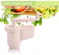 Wholesale Ginger Garlic Machine Garlic Presses Cutting Machine Chopped Kitchen Gadgets Tools Free DHL Factory Price
