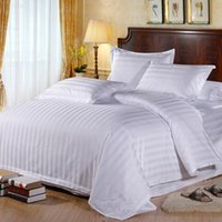 Wholesale home textile hotel cotton bedding teams encrypt all cover sheet white bedlinen bed sheet cotton bedclothes bedding sets