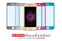 Wholesale New D Titanium alloy Tempered Glass For Iphone Iphone Plus Screen Protector mm Explosion Proof Film Guard For iPhone iPhone plus