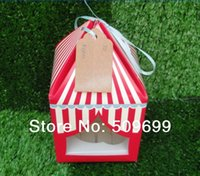 Wholesale 2014 hot sale Fashion Cupcake boxes Single cupcake boxes Cake boxes cupcake holder boxed candy with open windows
