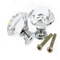 Wholesale pc New Clear Zinc Alloy Glass Crystal Sparkle Cabinet Drawer Door Pull Knobs Handle