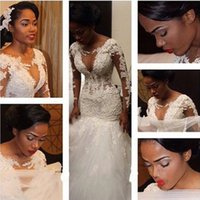 Cheap 2015 Wedding Dresses Best long sleeve lace mermaid wedding dress