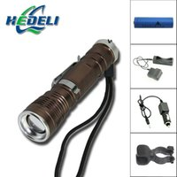 bicycle search - High Power Led Flashlight Telescopic Zoomable In and Out Life Bike Light Bicycle Lamp Climbing Lantern Search Light Torch