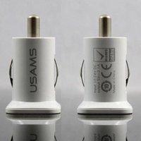Wholesale A Dual USB Output Car Cigarette Lighter V Usb Car Charger Car