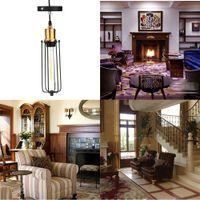 Wholesale Loft Ceiling Bedroom Chandeliers Mental E27 Lighting Decoration Light LIXADA Vintage Retro Pendant Lamp Elegant Pendant Light L0618