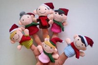 Unisex Birth-12 months Push Hot selling 2015 6pcs Finger Plush Puppet Happy Family Story Telling Dolls Support Children Baby Educational Toys Kawaii Toys