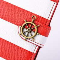 PU apple iphone articles - 2014 new ip6 inch with stents article two card rainbow pirate ship mobile phone holster protection