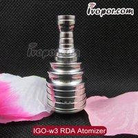igo w - Rebuildable IGO w3 Atomizer IGO w3 IGO w IGO Series Atomizer Fit For Thread Chiyou Maraxus Bagua Mechanical Mod Electronic Cigarette
