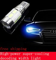 Wholesale 2PCS T10 W5W SMD Car Auto LED HID Canbus Error FREE Car Side Wedge Light Parking Fog Light