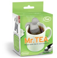 Wholesale Silicone Mr Tea Infuser Loose Tea Leaf Strainer Herbal Spice Filter Diffuser
