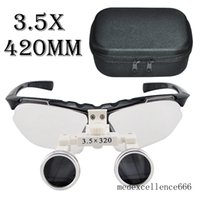 Cheap Brand New Dentist Black Dental Loupes Surgical Medical Binocular Loupes 3.5X 420mm Optical Glass Loupe With Protective Bag