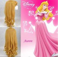 Wholesale Sleeping Beauty Princess Aurora Wig Long Curly Blonde Cosplay Wig