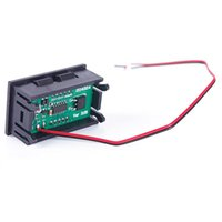 Wholesale New DC V quot LED Car Digital Display Panel Volt Meter Voltmeter Wires