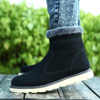 best mens casual shoe - best selling Winter Men Shoes For Fashion Genuine Leather Thicken Keep Wear Snow Boots Mens Casual Martin Boots BC47 Retail