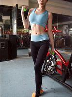 Wholesale L0101 High quality Women Yoga pants Elastic Pants Force Exercise Tights Female Sports Elastic Fitness Running Trousers Slim Leggings