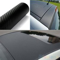 Wholesale Black D Carbon Fiber Vinyl Vehicle Auto Car Wrap Sheet Roll Film DIY Sticker ON9