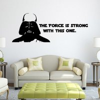Paper Home Decor - Star Wars Decals The force is strong with this one Star Wars Wall Sticker Darth Vader Decals Home Decor Wallpaper
