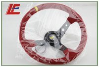 Wholesale Red color inch mm OXP Suede Leather Deep Corn Drifting Steering Wheel