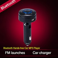car hands free microphone - Car Bluetooth FM Transmitter FM Launches Hand free Car MP3 Player Build in Microphone Car Mobile Phone Charging J16 D3425