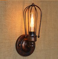 Wholesale Wall Lamps American RH Loft Edison Vintage Wall Lamp Beside Industrial Wall Sconce Stair Light Lampara Pared for Home Lighting