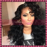 big bangs hair - Natural wavy grade A unprocessed brazilian human hair glueless silk top full lace wig with natural hairline with bang bleached knots