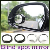 auto side mirror - 2pcs Auto Side Wide Angle Round Convex Mirror Car Vehicle Blind Spot Dead Zone Mirror RearView Mirror Small Round Mirror