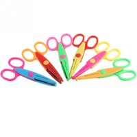 Wholesale 6pcs New Creative Decorative Craft Border Scissors Scallop Wavy Fancy Pinking Paper Shears DIY