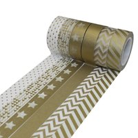 Wholesale DECORA mmX10m Washi Paper Masking Tape Printed Flower Chevron Star