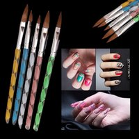Wholesale 5 Hot Acrylic Design Painting Drawing Brush Pen Tool Nail Art Set Brushes