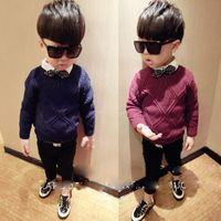 argyle sweaters boys - Korean trendy new styles for fall winter boys sweaters children s wear Argyle sweater