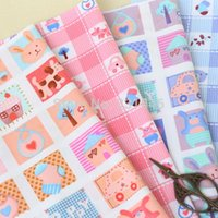 animal quilting fabric - 4PCS cm Animals Puzzle Cotton Fabric Telas Quilting Tilda Patchwork Diy Baby Toy Tissu To Sewing Bedding Textil Tecido