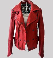best women s leather jacket - Red Leather Jacket Best Seller Unisex Jacket Genuine Leather Jacket For Women And Men Natural Sheepskin Jacket For Lovers