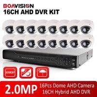 al por mayor sistema de cctv 16-Sistema de seguridad 16CH 2.0MP AHD HD 1080P CCTV DVR Kit AHD HDMIVGA salida, P2P móvil Ver + 16Pcs al aire libre IR de la bóveda de la cámara 10m AHD