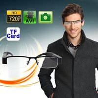 Cheap 1pcs SPY HIDDEN Eyewear HD 720P Digital Frame Glass Mini DV DVR Camera Recorder glasses camera SS1