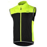 Wholesale ycling Jackets ARSUXEO Men Women Windproof Sleeveless Cycling Jacket Outdoor Sports Clothing Bike Bicycle Vest Windbreaker New Arr