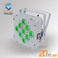 9 Channels active building - 20X Wireless RGBAW LED Flat Par Light W Wireless RGBAW par light Built in Wireless LED Par Can For Disco Event Party
