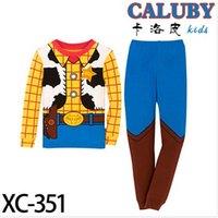 Wholesale 2014 children clothing boys pajama Toy Story Woody Kids Costume Pyjamas cotton T shirt PJ Sleepwear christmas gift clothes sets