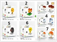 Wholesale Stars Wars Nanoblocks Mini Building Blocks Cartoon Boys Girls DIY Bricks Movies Figure Block Toys package box